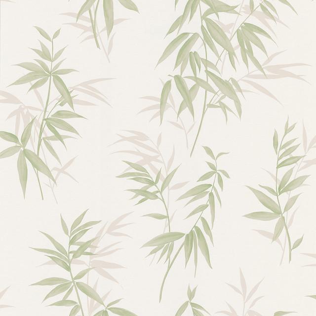 Bamboo Shoot Light Green Leaves Wallpaper Bolt