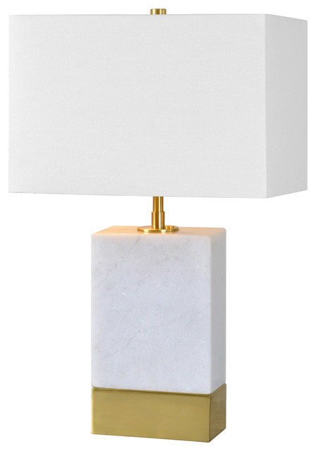 Lucent 2-Light Table Lamp, Antique Gold And White.