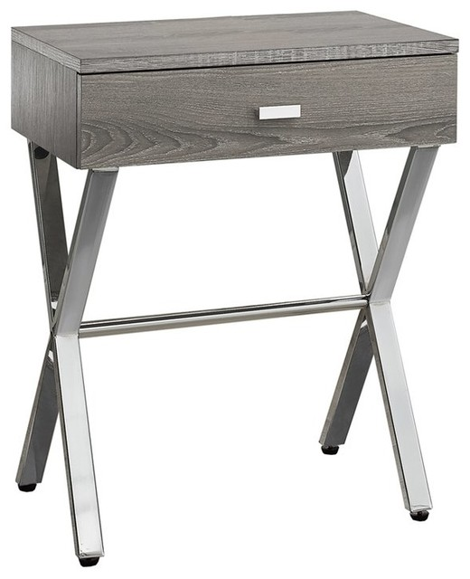 Monarch Accent Nightstand, Dark Taupe. -1