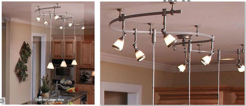 Kitchen Track Light Too Busy - Track lighting over island