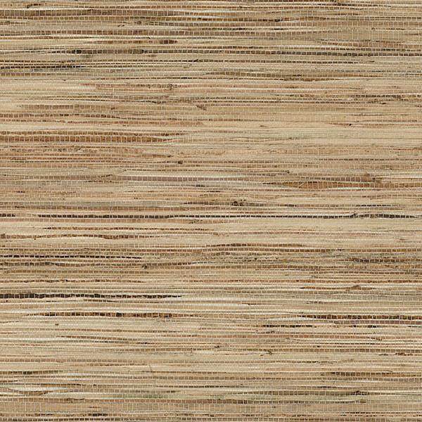 Designer Grasscloth Fine Raw Jute White Tan 488 413