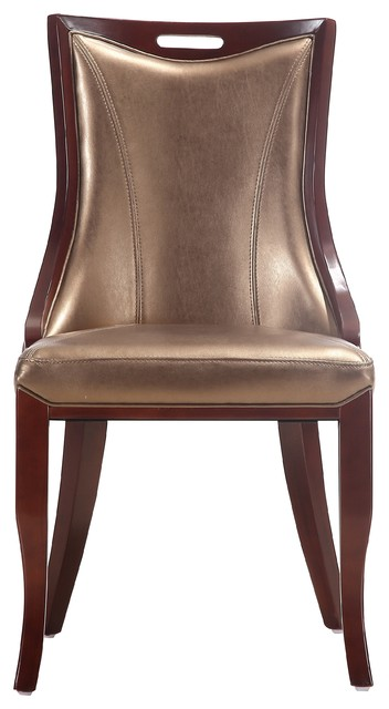 Imperatore Dining Chair, Bronze, Set Of 2.