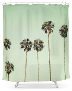 Society6 Palm Trees Shower Curtain Tropical Shower Curtains By Society6