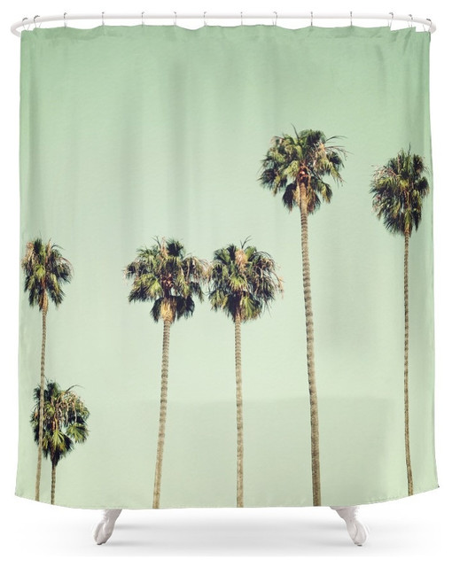 Palm Trees Shower Curtain Tropical Shower Curtains By Society6
