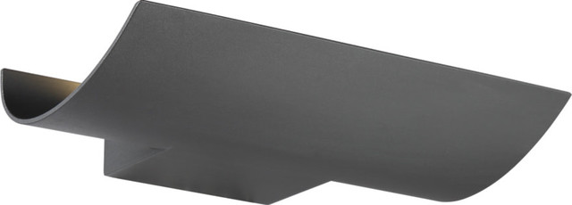 Arched Led Outdoor Wall Mount, Graphite Gray.