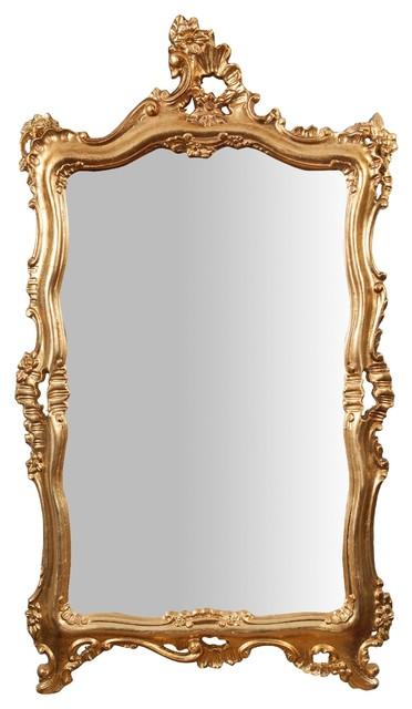 Antique Floral Full Length Wall Mirror, Gold Leaf, 68x122 cm