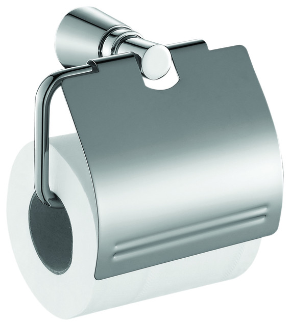 Me Tonda Toilet Paper Holder With Lid Cover Polished Chrome