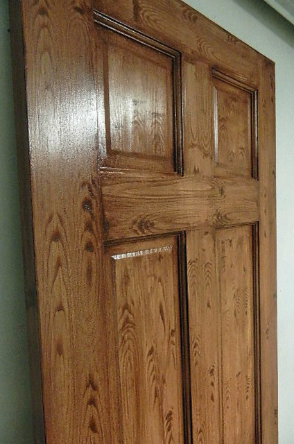 Faux Doors Source · Faux Wood Grain FInish : woodgrain door - Pezcame.Com