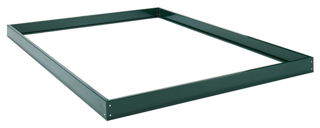Halls Greenhouse Base Popular, 6x6, Green.