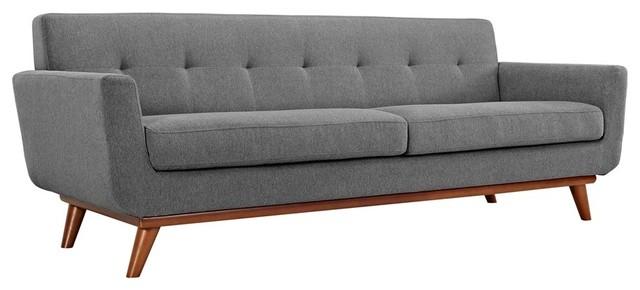 Engage Upholstered Sofa, Expectation Gray.
