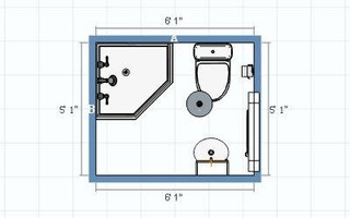 Ideas for Layout of New (Tiny) Bathroom