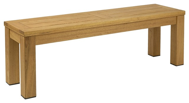Martinique Solid Wood Outdoor Bench, Oiled