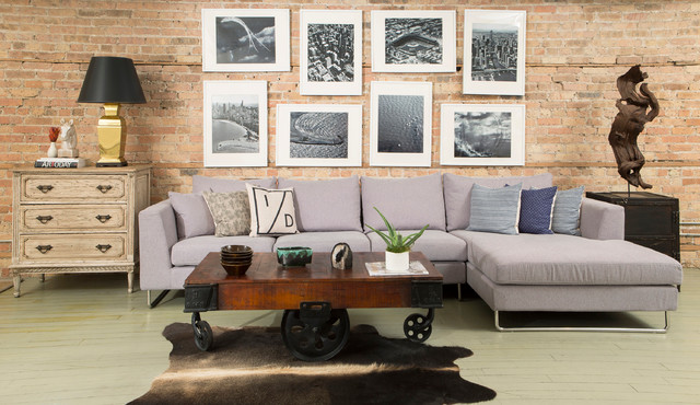 Asher Fabric Sectional by Interior Define Modern Chicago by