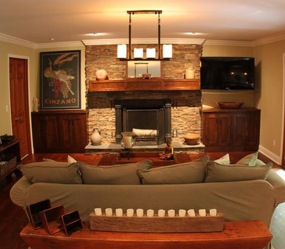 Inspiration for a timeless family room remodel in Indianapolis