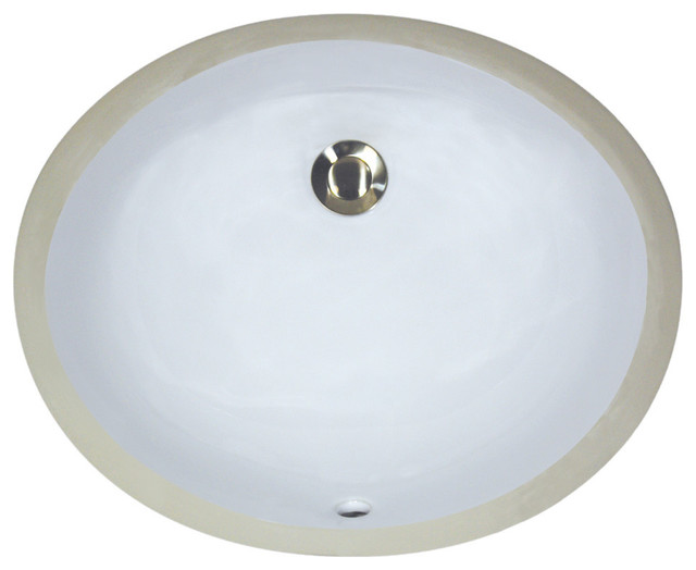 Nantucket Sinks 13x10 Undermount Ceramic Sink, White.