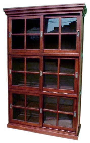 Mahogany 3-Section Sliding Door.