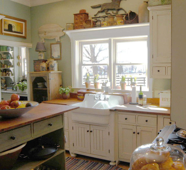 wonderful Cottage Style Kitchens Designs #5: Traditional by The Workshops of David T. Smith