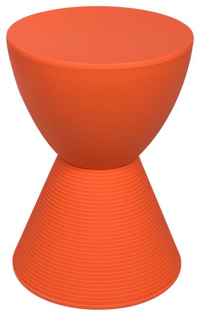 Leisuremod Modern Abs Plastic Boyd Side Table Orange