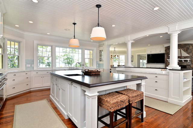 Cape Cod Shingle Style Traditional Kitchen