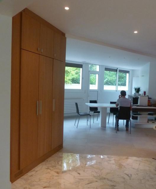 r novation maison ann es 60 contemporain salle manger paris par mati res design. Black Bedroom Furniture Sets. Home Design Ideas