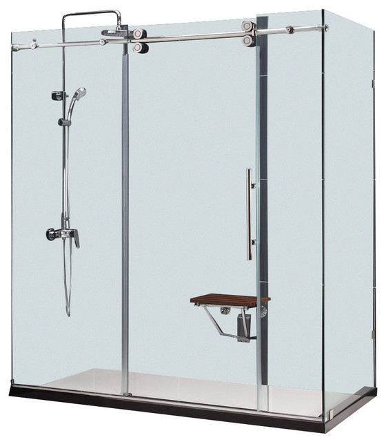 frameless kitchen cabinets dreamline enigma 36 quot x 72 5 quot fully frameless sliding shower 1053