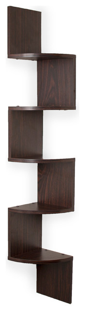 Booker Wall Mount Corner Shelf transitional-display-and-wall-shelves