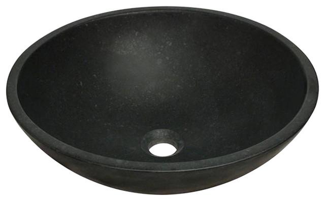 Mr Direct Honed Basalt Black Granite Vessel Sink.