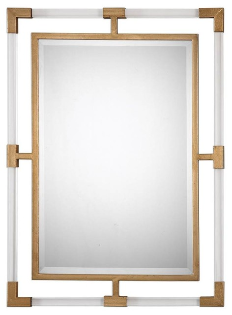 Rectangular Wall Mirror in Gold