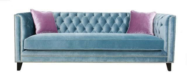 Victoria Sofa Blue Traditional Sofas