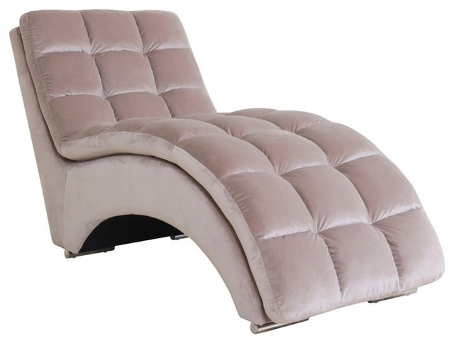 Abbyson Living Mercer Fabric Chaise, Beige - Indoor Chaise Lounge ...