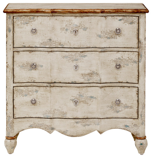 3-Drawer Accent Chest, Farmhouse Cream