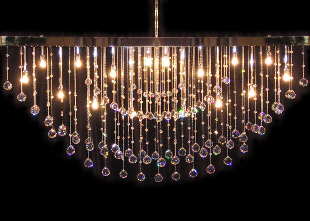 Contemporary Crystal Chandelier Boston By