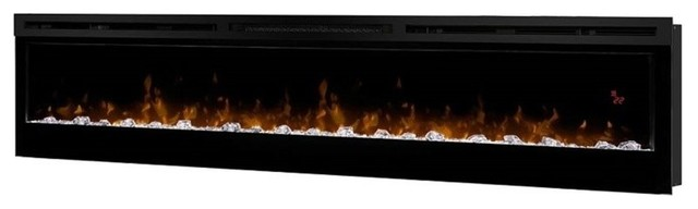 Outstanding Dimplex Prism 74 Wall Mount Linear Electric Fireplace Insert In Black Interior Design Ideas Clesiryabchikinfo