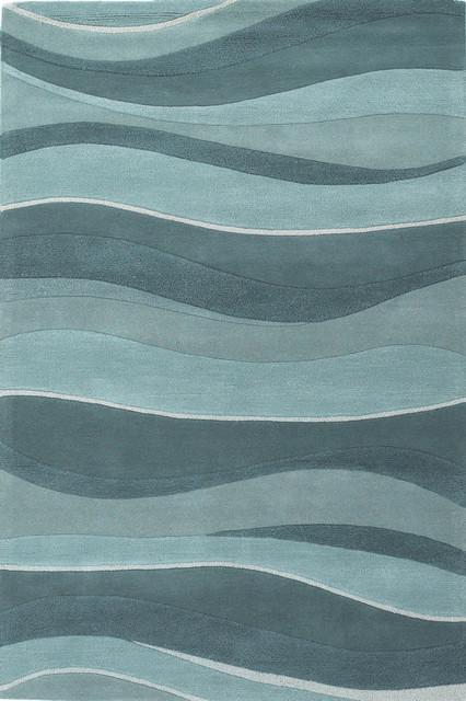 Eternity 1053 Ocean Landscapes 3&x27;3x5&x27;3 Size Area Rug.