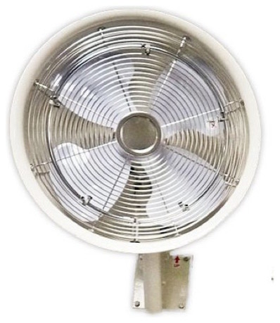 "18"" Oscillating Mount Misting White Fan 5 Nozzle."
