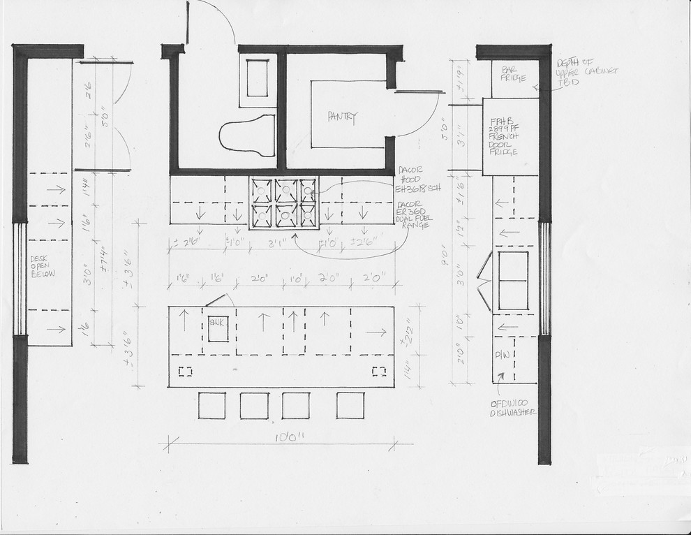 residential space plans- wolfe island farmhouse kitchen space plan