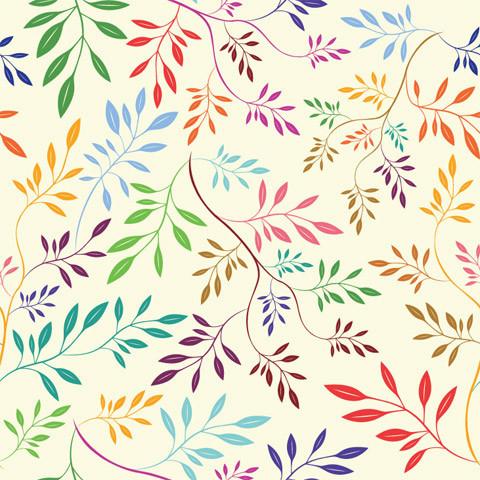 Rainbow Vines Shelf Paper Drawer Liner, 120x12, Laminated Vinyl.