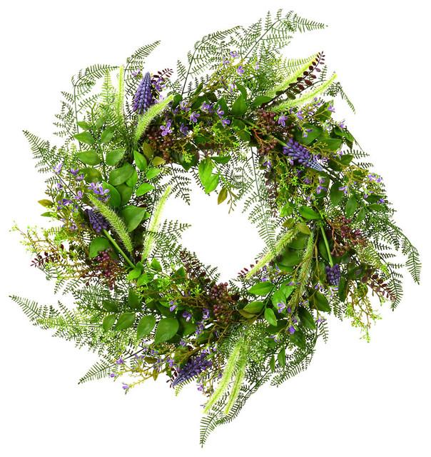24 Green Maytime Wreath.