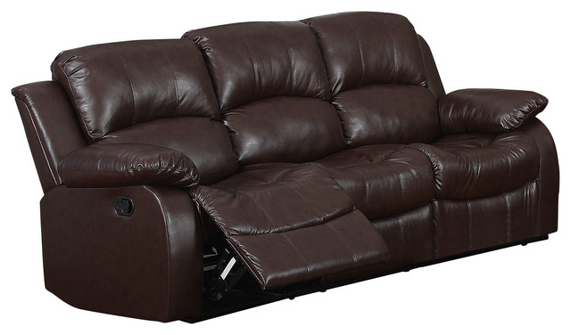Kaden Brown Bonded Leather Sofa - Transitional - Sofas - by Myco ...