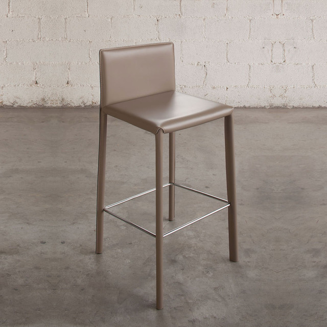 39 Manila 39 Modern Leather Bar Stool By Imperial Line Contemporary B