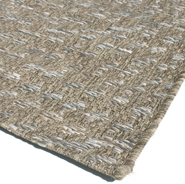 Minerva Indoor/outdoor Rug, Gray And Brown, 7&x27;7x10&x27;10.