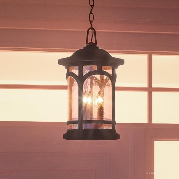 Luxury Rustic Black Outdoor Pendant Light, Large, UQL1108 ...