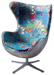 Lillian Swivel Chair   Eclectic   Armchairs And Accent Chairs   By GDFStudio