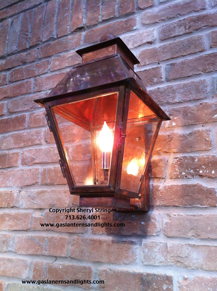 Electric Lanterns by Garage