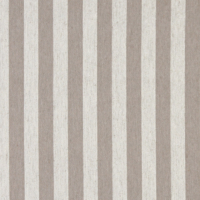 Grey And Off White Striped Linen Look Upholstery Fabric By The Yard