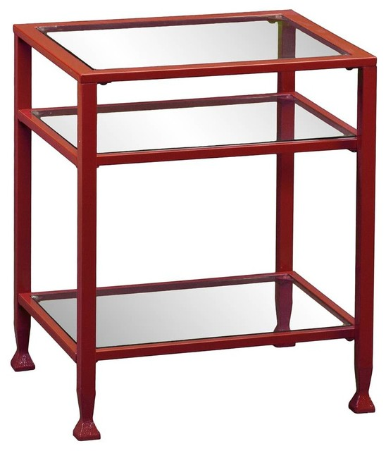 Southern Enterprises Metal End Table Red Side Tables  : contemporary side tables and end tables from www.houzz.com size 548 x 640 jpeg 53kB