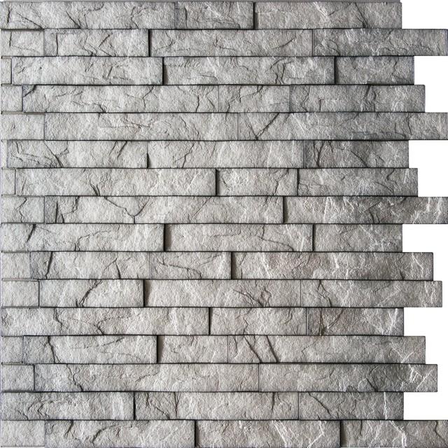 Retro Art Ledge Stone Wall Panels Interior Design Paneling Decor