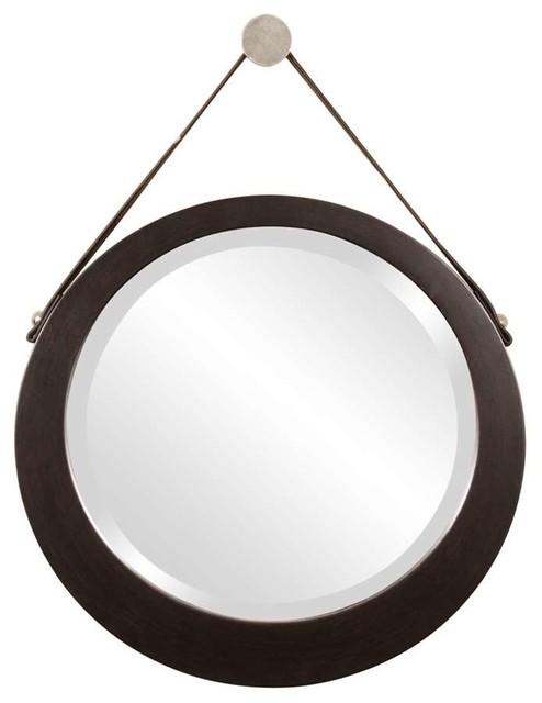 Howard Elliott Bloom Round Mirror.