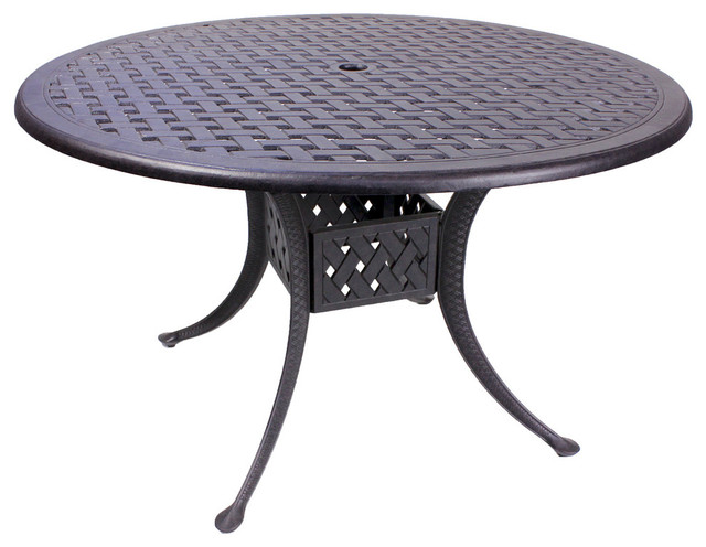 Kokomo Round Dining Table - Traditional - Outdoor Dining Tables - by Patio Retreat