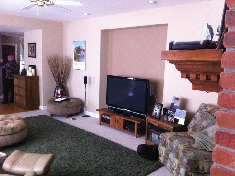 Curvy Modern Family Room